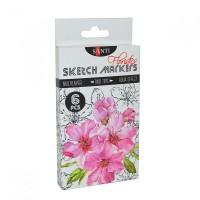 Набор акварельных маркеров Santi Sketch Marker Floristics 6 цветов
