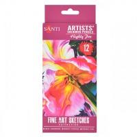 Набор цветных карандашей Santi Highly Pro 12цв. картон