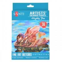 Набор цветных карандашей Santi Highly Pro 36цв. картон