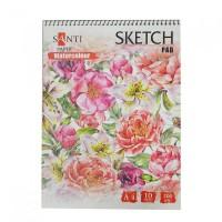 Альбом для акварели Santi Watercolor Pad A4 (21х29.7см) 200 г/м2 10 л,