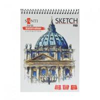 Альбом для акварели Santi Watercolor Pad A5 (15х20см) 200 г/м2 20 л,