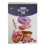 Альбом для маркеров Santi Marker Sketch Pad A5 (15х20см) 130 г/м2 32л.
