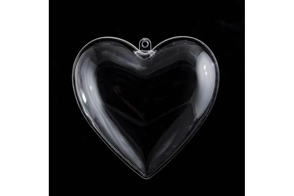 Пластиковая форма Сердце 10 см