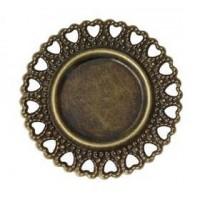 Основа, 35(18) мм, Античная бронза