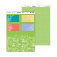 """Бумага дизайнерская Rosa """"Нежность цветов"""" 3 двусторонняя 21х30 см 200 г/м2"""