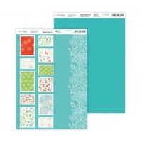 """Бумага дизайнерская Rosa """"Нежность цветов"""" 4 двусторонняя 21х30 см 200 г/м2"""