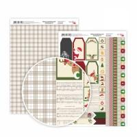 """Бумага дизайнерская Rosa """"Christmas"""" 8 двусторонняя 21х30 см 200 г/м2"""