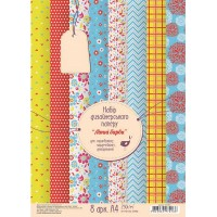 """Набор дизайнерской бумаги """"Летние краски"""", А4, 250 г/м2, 8л, ROSA START"""