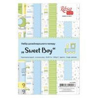 """Набор дизайнерской бумаги Rosa """"Sweet Boy"""" двусторонняя А4 250 г/м2 8 листов"""
