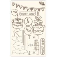 Набор чипбордов для скрапбукинга, Cake delicious 4, 12.8х20см, Rosa
