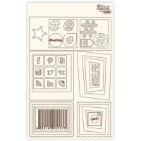 """Набор чипбордов для скрапбукинга, Классический Рамки и пиктограммы"""", 12.6х20см, Rosa"""