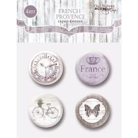 Набор скрап-фишек для скрапбукинга 4шт, French Provence, Scrapmir