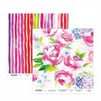 Бумага для скрапбукинга, Floral Poem 14, двост., 30,5х30,5см, 200г/м2, Rosa