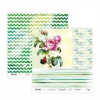 Бумага для скрапбукинга, Floral Poem 15, двост., 30,5х30,5см, 200г/м2, Rosa