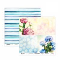 Бумага для скрапбукинга, Floral Poem 16, двост., 30,5х30,5см, 200г/м2, Rosa