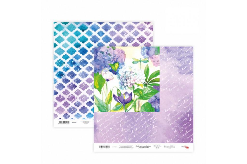 Бумага для скрапбукинга, Floral Poem 17, двосторон., 30,5х30,5см, 200г/м2, Rosa
