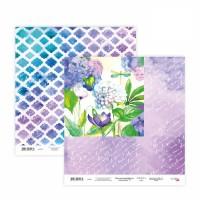 Бумага для скрапбукинга, Floral Poem 17, двост., 30,5х30,5см, 200г/м2, Rosa