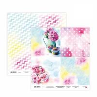 Бумага для скрапбукинга, Floral Poem 18, двост., 30,5х30,5см, 200г/м2, Rosa
