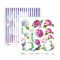 Бумага для скрапбукинга, Floral Poem 19, двост., 30,5х30,5см, 200г/м2, Rosa