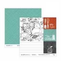 Бумага для скрапбукинга, Recipe book 4, двост., 30,5х30,5см, 200г/м2, Rosa
