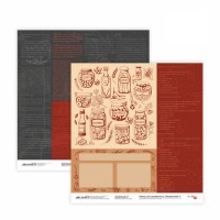 Бумага для скрапбукинга, Recipe book 5, двост., 30,5х30,5см, 200г/м2, Rosa