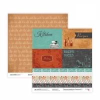 Бумага для скрапбукинга, Recipe book 8, двост., 30,5х30,5см, 200г/м2, Rosa