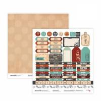 Бумага для скрапбукинга, Recipe book 9, двост., 30,5х30,5см, 200г/м2, Rosa