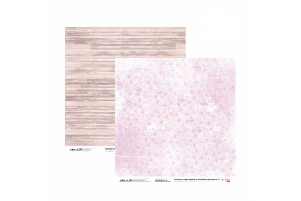 Бумага для скрапбукинга, Emotion & Romance 6, двост., 30,5х30,5см, 200г/м2, Rosa
