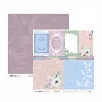 Бумага для скрапбукинга, Emotion & Romance 7, двост., 30,5х30,5см, 200г/м2, Rosa
