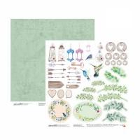 Бумага для скрапбукинга, Emotion & Romance 8, двост., 30,5х30,5см, 200г/м2, Rosa