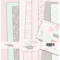 Набор односторонней бумаги, Baby Girl, 30х30см, 10л., Scrapmir