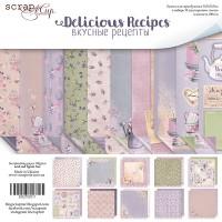 Набор односторонней бумаги, Delicious Recipes, 30х30см, 10л., Scrapmir
