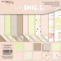 Набор односторонней бумаги, Doll Baby, 30х30см, 10л., Scrapmir