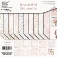 Набор односторонней бумаги, Beautiful Moments, 30х30см, 10л., Scrapmir