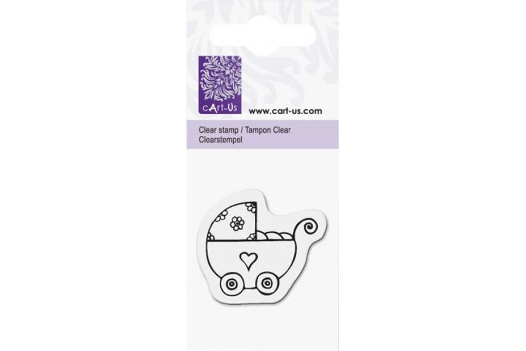 Штамп акриловый, Детская коляска, 5х6 см