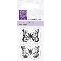 Штамп акриловый, Бабочки, 5х6 см