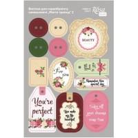 Стикеры для скрапбукинга, Магия роз 2, картон, 12.8х20см, Rosa