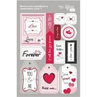 Стикеры для скрапбукинга, Love 1, картон, 12.8х20см, Rosa