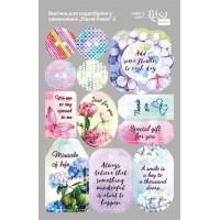 Стикеры для скрапбукинга, Floral Poem 2, картон, 12.8х20см, Rosa