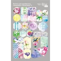 Стикеры для скрапбукинга, Floral Poem 3, картон, 12.8х20см, Rosa