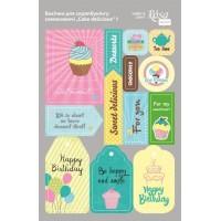 Стикеры для скрапбукинга, Cake delicious 1, картон, 12.8х20см, Rosa