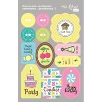 Стикеры для скрапбукинга, Cake delicious 2, картон, 12.8х20см, Rosa