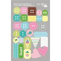 Стикеры для скрапбукинга, Cake delicious 3, картон, 12.8х20см, Rosa