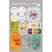Стикеры для скрапбукинга, Make your journey 2, картон, 12.8х20см, Rosa