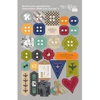 Стикеры для скрапбукинга, Make your journey 3, картон, 12.8х20см, Rosa
