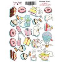 Стикеры для скрапбукинга №025, Bunny birhtday party-1, FD