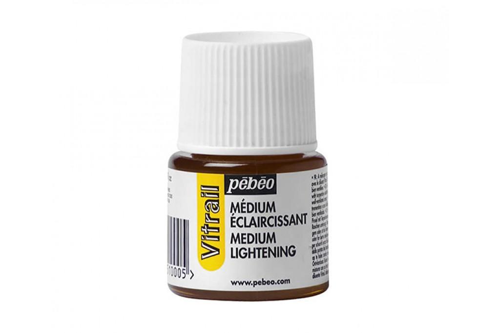 Медиум для витражных красок Pebeo Vitrail осветляющий 45 мл