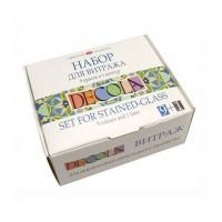 Набор витражных красок Decola на водной основе 9 цветов по 20 мл