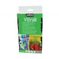 Набор красок на основе растворителя Pebeo Vitrail по стеклу 12 цветов по 20 мл