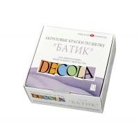 Набор акрил. красок для росписи шелка, 9цв. по 50мл, Decola